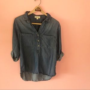 Anthropologie Cloth & Stone Chambray Shirt Size M